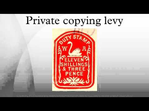 Private copying levy