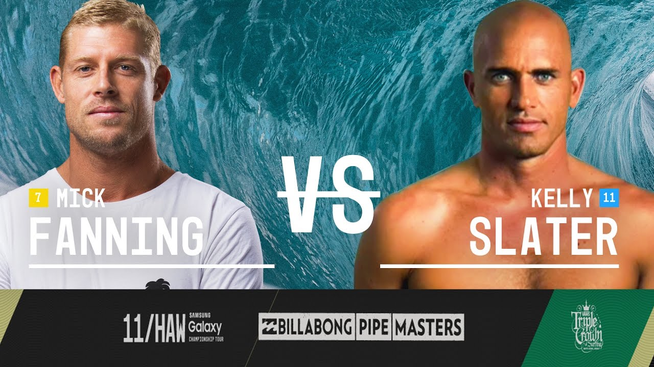 2cc1178502 Mick Fanning vs. Kelly Slater - Billabong Pipe Masters 2015 Quarterfinals