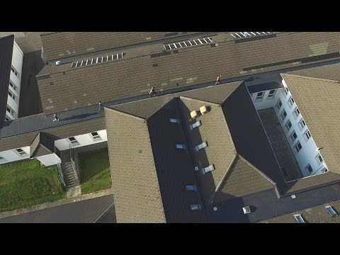 Guy with drone scares the crap out of trespassing kids