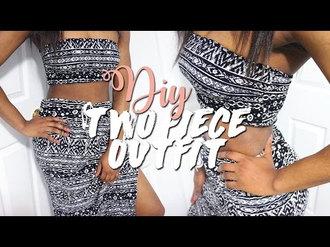 DIY TWO PIECE OUTFIT SET (NO SEW)