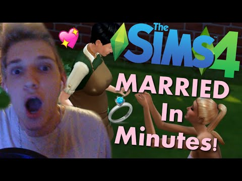 Married In Minutes! Sims 4 Challenge!
