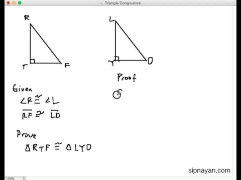 TC12 Hypotenuse Angle Congruence
