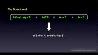Propositional Logic: A if and only if B Thumbnail