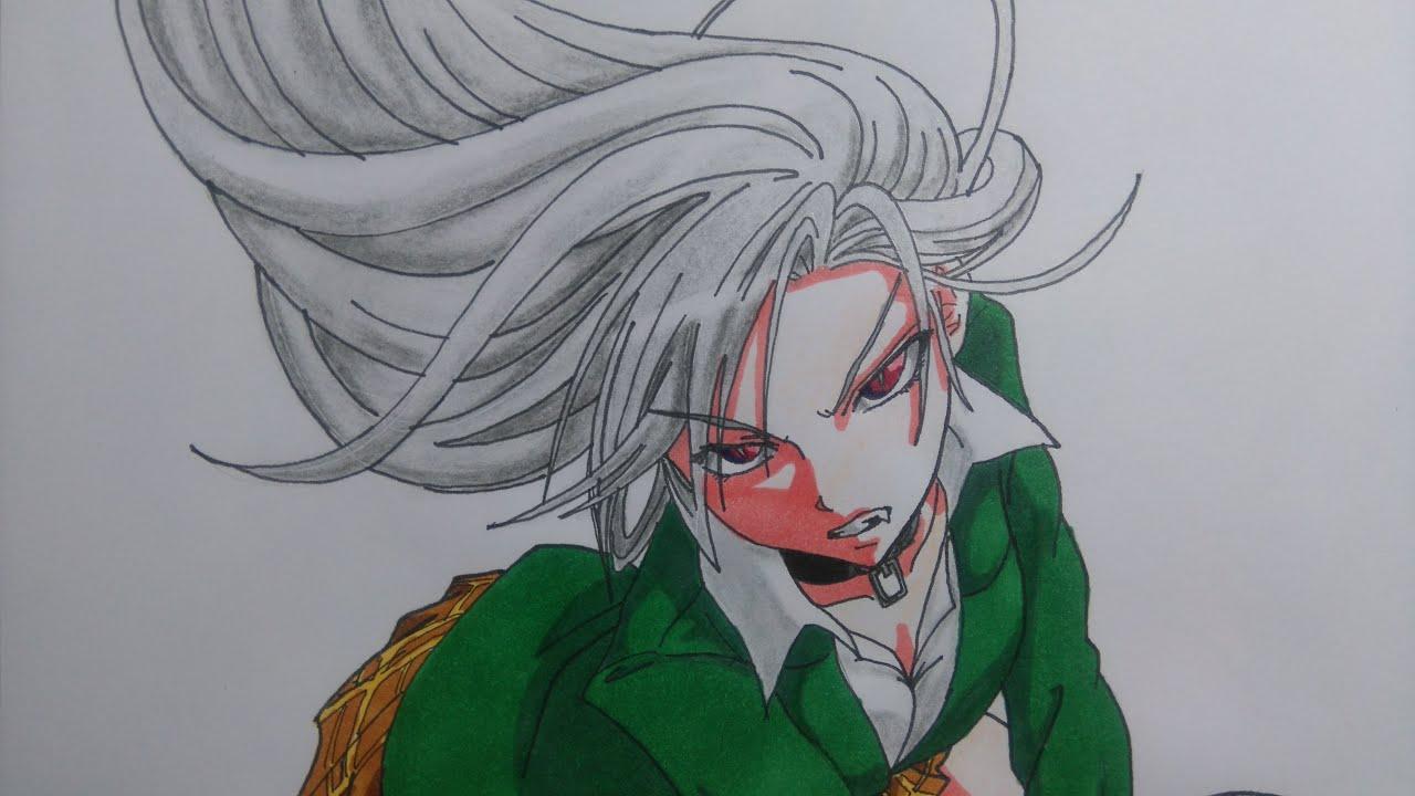 Dibujando a MOKA de Rosario Vampire Speed drawing MOKA How to