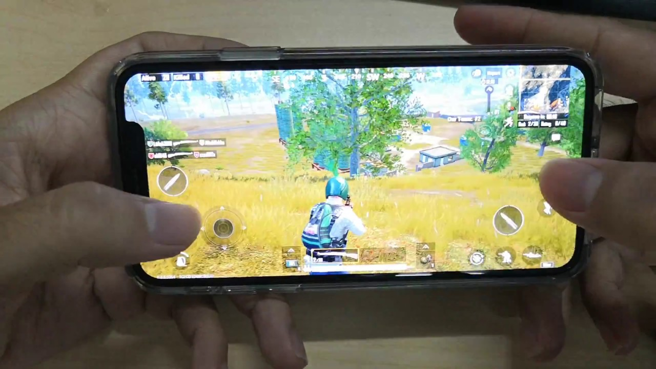 Test Game PUBG Mobile on iPhone X Max Setting