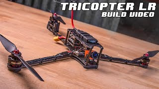 TRICOPTER LR - Long Range FPV, 1h+ Flight time, Foldable multirotor - Build Video.