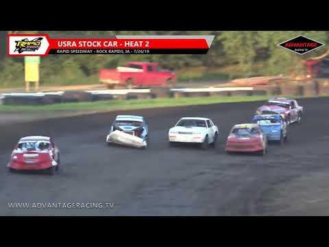 Stock Car Heats - Rapid Speedway - 7/26/19