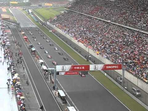 Race start, F1 Shanghai Circuit, 2007