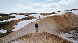 Solo Hiking 55km oฑ the Laugavegur Trail in Iceland