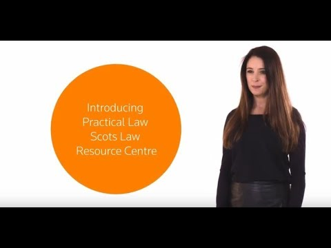 Scots Law Resources on Practical Law: Jillian's Story