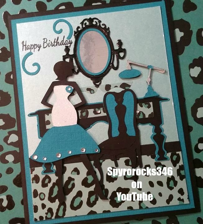 Cricut Forever Young Happy Birthday Scene Card