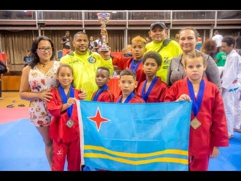 Suriname TK5 2017 Aruba Brazil Taekwondo Campeon categoria Infantil