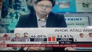 "Hasil Quick count sementara Pilkada DKI Jakarta 2017. ""Sumber Tvone"""