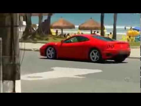 Teste da Ferrari na Praia   24 11 13 PANICO NA BAND