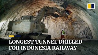 Subscribe to our channel for free here: https://sc.mp/subscribe-drilling work has been completed the longest tunnel indonesia's jakart...
