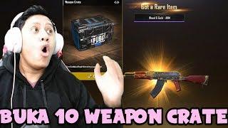 Buka 10 Weapon Crate Dapet Hoki Parah !! - PUBG Mobile