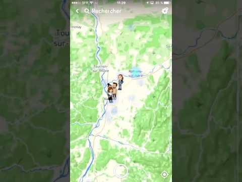 TUTO - Comment avoir la carte sur SnapChat !