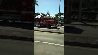 Palm Beach County Fire Rescue On Scene of an MVA