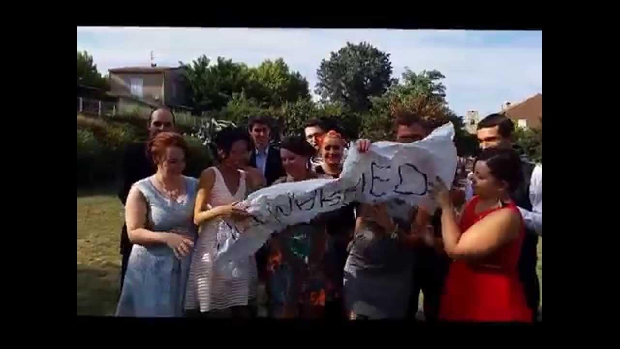 Message video boulette mariage blandine et jo l youtube - Message boulette mariage ...