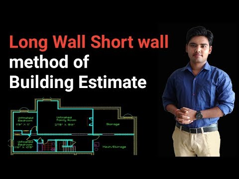 Long wall short wall method of building estimate.