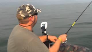 Рыбалка в Израиле , Блеснение на озере Кинерет , день рыбака 2 .