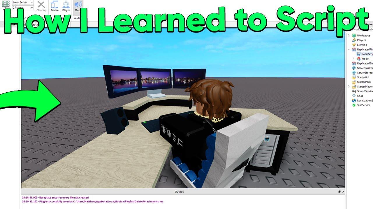 How I Learned to Script on Roblox (My First EVER Game!)
