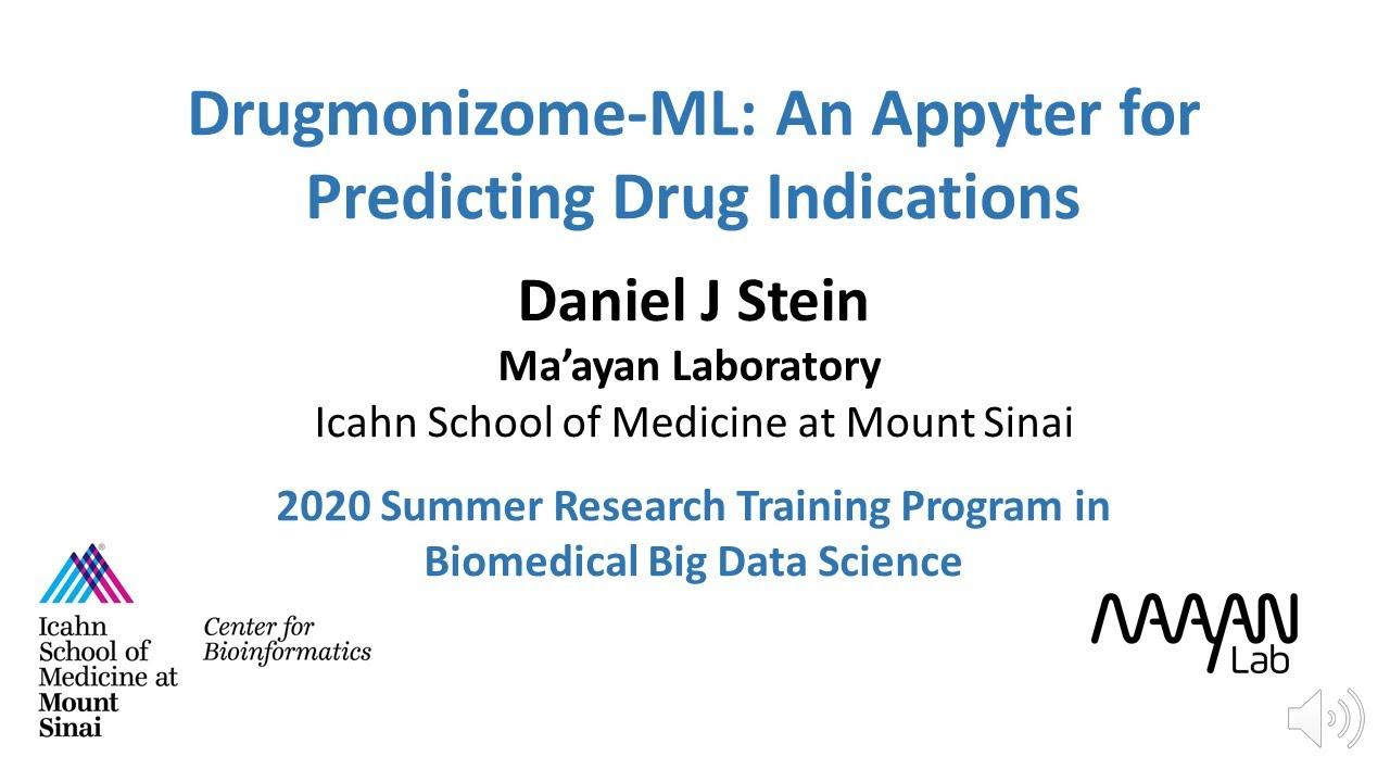 Drugmonizome-ML: An Appyter for Predicting Drug Indications