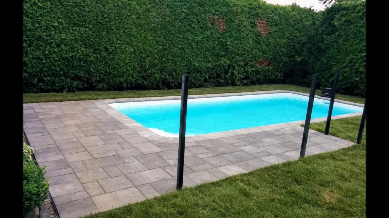 contour piscine en pave uni youtube. Black Bedroom Furniture Sets. Home Design Ideas