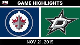 NHL Highlights   Jets vs Stars – Nov. 21, 2019