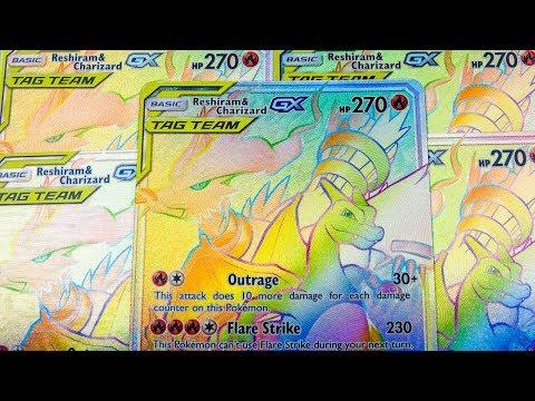 Opening 28 Reshiram & Charizard Rainbow Rares! (Pokemon TCG Compilation)
