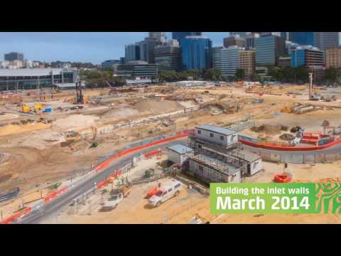 Elizabeth Quay time lapse footage construction start to opening