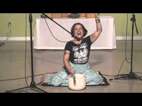 Celebration Circle - Heart Centered Crystal Bowl Meditation with Sarah Gabriel   October 4 2015 HD