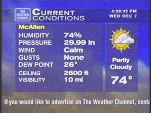 WeatherStar XL V1 Debut: McAllen, TX