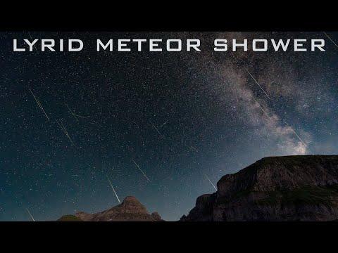 Lyrid Meteor Shower 2020 [HIGHLIGHTS]