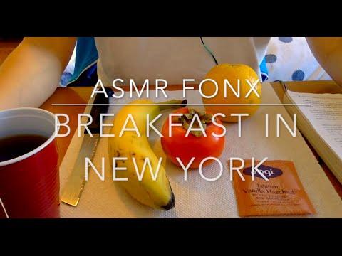#29 ASMR food | Good Morning New York! Breakfast :)