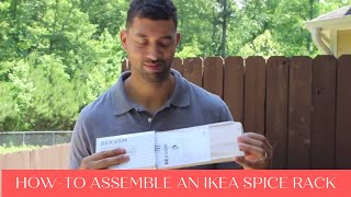 How to build an Ikea spice rack - easy step-by-step