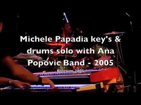 Michele Papadia key's & drums solo with Ana Popovic Band, Belgium 2005