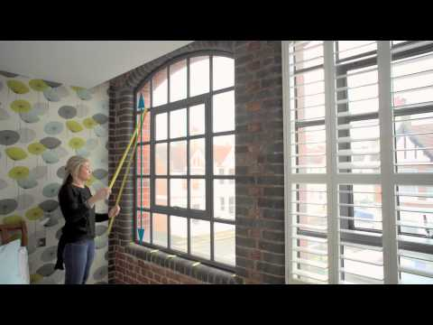 How to Measure for Arch Window Shutters