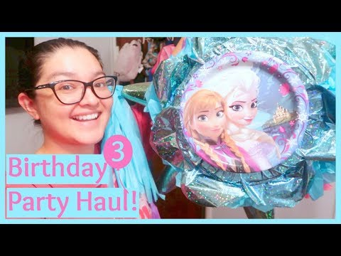 Frozen Birthday Party Supplies Haul! | January 4, 2018
