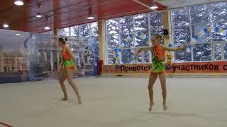 Спортивная акробатика. Женская пара. 11-16. Вольтиж. Софья и Арина.