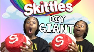 DIY GIANT SKITTLES | ThunThun Skittles (DREAM COME TRUE 😍✨)