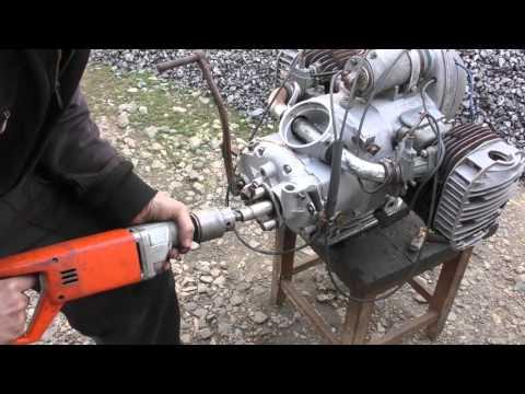 Ч 2.Мотоцикл из запчастей.Двигатель с разборки   Днепр-12 (К-750 ,М-72 ,МВ-750)