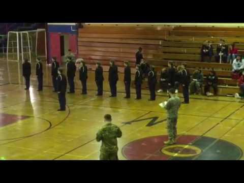Kenmore high school JROTC Varsity  color guard