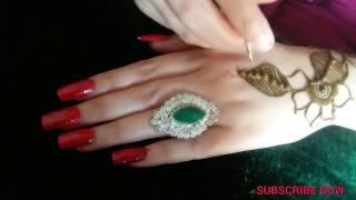 Arabic henna design for hand by (Shah mehndi)