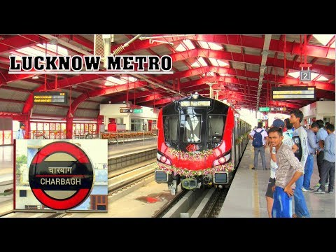 [IRI] Lucknow Metro Arriving Charbagh from Durgapuri Plus Departure From Charbagh to Transport Nagar thumbnail