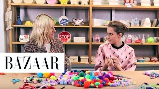 Crafting with Allison Williams | Harper's Bazaar The Look