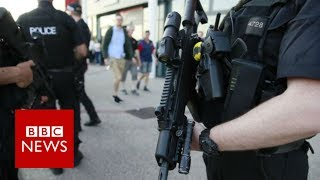 Manchester attack: Armed police guard bank holiday events - BBC News