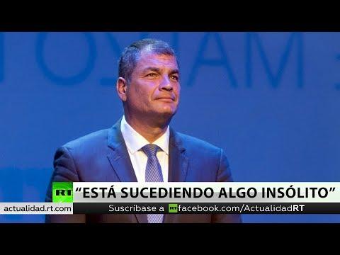 Rafael Correa conversa con RT sobre la situación en Venezuela