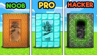 Minecraft - DIMENSION CHALLENGE! (NOOB vs PRO vs HACKER)