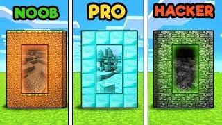 Minecraft - DIMENSION CHALLENGE! (NOOB vs PRO vs HACKER)